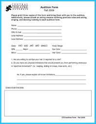 theatre resume sample acting resume sample no experience httpwwwresumecareerinfo audition resume sample template 6 sample audition resume