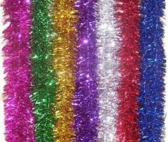 shop colorful hanging tinsel garland