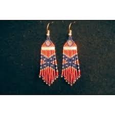 rebel earrings rebel flag earrings jewelry polyvore
