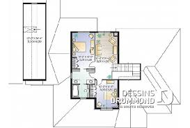 plan maison etage 3 chambres plan maison à étage avec 3 chambres modèles dessins drummond