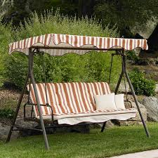 home trends park lake 3 seater futon swing 001661485 garden winds