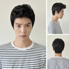 vogue men wig handsome korean boys short hair cosplay male