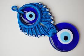 20cm turkish macrame evil eye home amulet wall hanging ornament