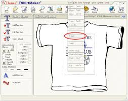design a shirt program how do i export a design out of hanes tshirt maker for use in
