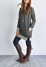 s sweater boots size 12 out suede patch terry tunic fast ship fit