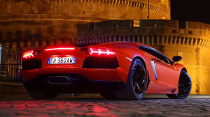 lamborghini back night cars lamborghini italy back view lamborghini aventador