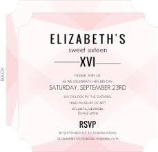 cheap sweet 16 birthday invitations invite shop