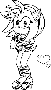 amy rose coloring pages virtren com