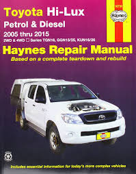 toyota hi lux and hi ace owner u0027s workshop manual haynes toyota