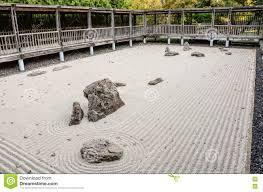 zen garden fort worth botanic garden fort worth texas stock