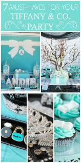 breakfast at tiffany u0027s sweet 16 party tiffany u0027s parties as