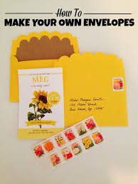 how to make your own envelope tutorial how to make your own envelopes