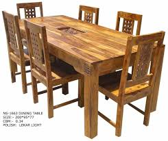 Jali Dining Table And Chairs Excellent Wood Dining Table Set With Wood Dining Table Set