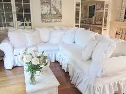 sectional sofas with ruffled skirt custom slipcover sectional