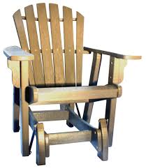 Outdoor Single Glider Chair Outdoor Furniture Adirondack Collection Breezesta Recycled Poly