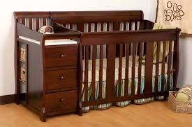 Convertible Cribs With Attached Changing Table Nursery Decors Furnitures Graco Convertible Crib With Attached