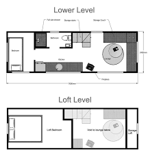 one bedroom house plans with loft tiny house plans suitable for a family of 4