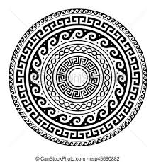 pattern clip art images ancient greek round key pattern meander art mandala black