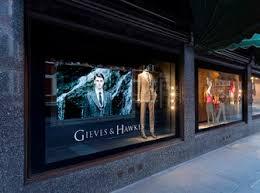 digital window opulent digital window gieves hawkes runs display at harrods