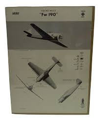 circa 1942 wwii aircraft recognition poster focke wulf fw 190