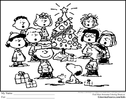 charlie snoopy christmas coloring pages glum