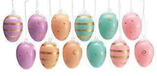 pastel easter eggs pastel easter egg ornaments 12 assorted designs