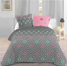housse de couette montagne chalet parure de lit décor graphique pastel 220x240 housse de couette 2