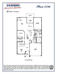 Dr Horton Home Floor Plans 2796 Hampton Rivendale By The Lake Frisco Texas D R Horton