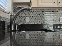 7 Black And White Kitchen by Kitchen 7 Glass Mosaic Tile Backsplash With Trendy Black And