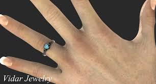 black finger rings images Black gold aquamarine heart and flowers engagement ring vidar jpg