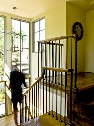 Iron Banister Rod Iron Railing Staircase Traditional With Arch Window Black