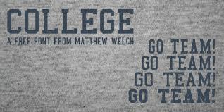 dafont freshman college font dafont com