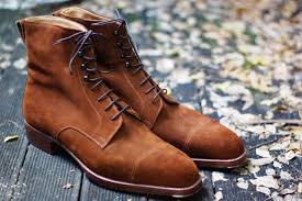new handmade men suede tan ankle high fashion boots vintage dress