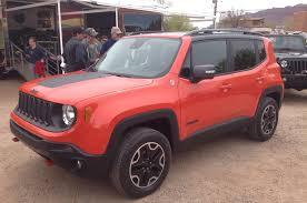 jeep red 2015 2015 jeep renegade north american debut at moab easter safari
