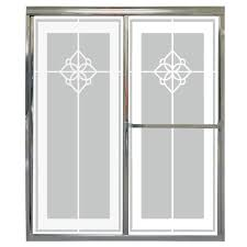 home depot glass shower doors delta 60 in sliding shower door glass panels in clear 1 pair