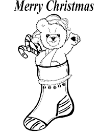 Bear Christmas Stocking Coloring ð Oloring Pages
