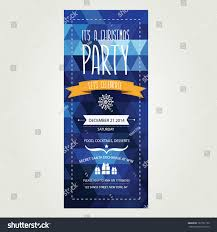 vector christmas party invitation toys holiday stock vector