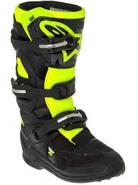 yellow motocross boots alpinestars blue white red fluorescent tech seven s kids mx boot