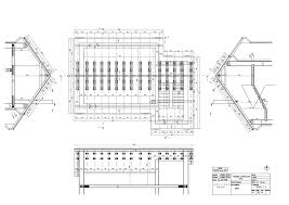 ground plan coroof truss ground plan sections technical drawing