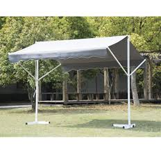 Free Standing Awning Outsunny 9 8 U0027 Freestanding Patio Awning Grey Aosom Ca