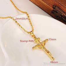 necklace gift case images 2018 14k yellow solid gold gf stamp inri jesus cross pendant jpg