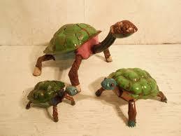 rustic metal colorful turtles yard ornaments 3 sizes