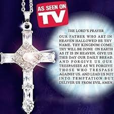 crystal cross pendant necklace images Lord 39 s prayer cross pendant with matching silver chain jpg
