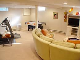 interior lovely finished basement kids with luxury sofa set and