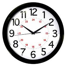 Realspace Warranty by 04 50 7011 Realspace Round 24 Hour Wall Clock 12