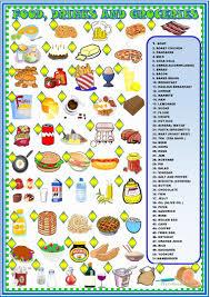 5 free esl food drinks and groceries worksheets