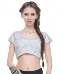 trendy blouses trendy blouse shimmering silver lurex fabric fashion