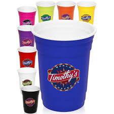 party cups custom 16 oz wall plastic party cups pg138 discountmugs