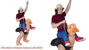 ollie ostrich inflatable costume youtube