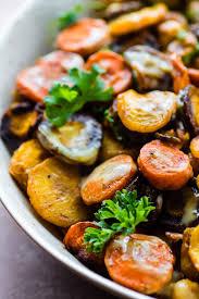 Simple Main Dish - turmeric roasted chickpea rainbow carrot salad vegan gluten free